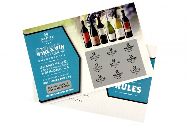 3 Badge Enology Scratch Off Card