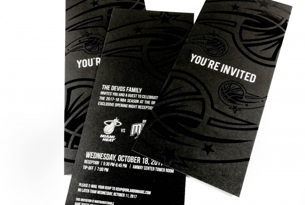 Orlando Magic Opening Night Invitation