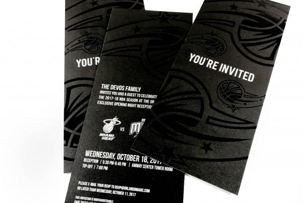 Orlando Magic Opening Night Invitation
