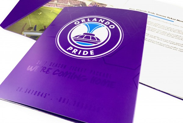 Orlando Pride Soccer Season Ticket Brochure